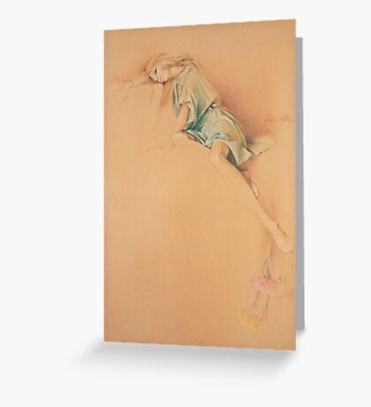 """Far Away"" in Colour Pencil Greeting Card"