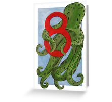 Number 8  Greeting Card