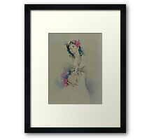 """Rose"" in Colour Pencil Framed Print"