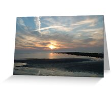 VAPOUR TRAILS OVER THE NORTH SEA Greeting Card