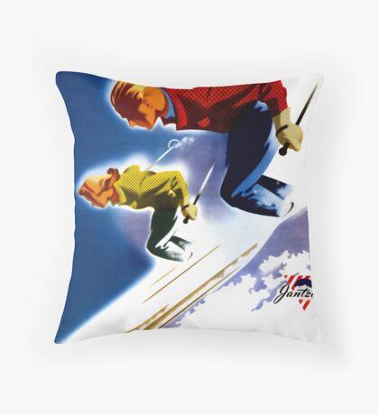 Jantzen Vintage Poster Restored Throw Pillow