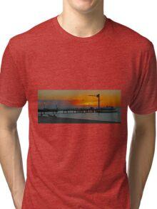Sunset on Tangalooma, Queensland, Australia (Panorama) Tri-blend T-Shirt