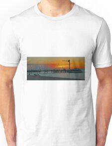 Sunset on Tangalooma, Queensland, Australia (Panorama) Unisex T-Shirt