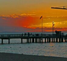 Sunset on Tangalooma, Queensland, Australia (Panorama) Sticker