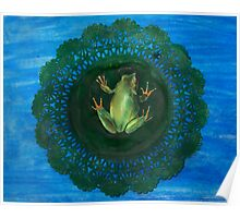 Frog On Doily Pad (Drawing Day 2010) Poster