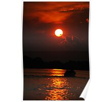 River Sunset Poster