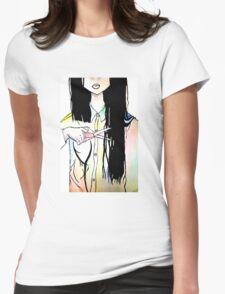 Hair Cut Womens Fitted T-Shirt