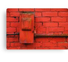 Old Electrical Box Canvas Print