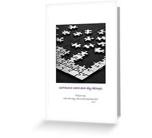 Life is a Jigsaw Puzzle Greeting Card