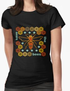 Save the Bees Womens Fitted T-Shirt