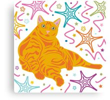 Party Cat Canvas Print