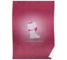 Aristocats inspired design (Marie). Poster