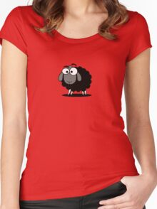 Black Sheep Cartoon Funny T-Shirt Sticker Duvet Cover Women's Fitted Scoop T-Shirt