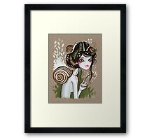 Snail Girl Framed Print