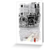 Red Signal Greeting Card
