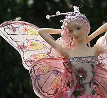 Fairy Doll with Cloth Wings - landscape by Allison Millcock