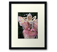 Fairy Doll with Cloth Wings - portrait Framed Print