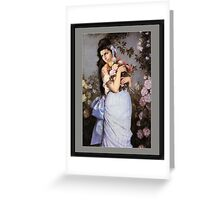 Amy Winehouse in a Rose Garden  Greeting Card