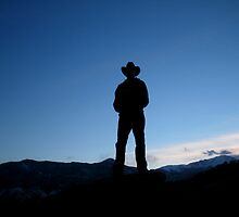 Cowboy Silhouette - Garden of the Gods by KellyWren