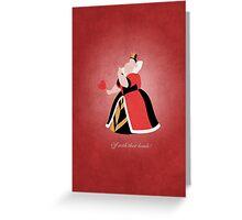 Alice in Wonderland inspired design (Queen of Hearts). Greeting Card
