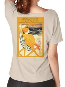 Century old French Transatlantic Steamship advert travel poster Women's Relaxed Fit T-Shirt
