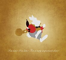 Alice in Wonderland inspired design (White Rabbit). by topshelf