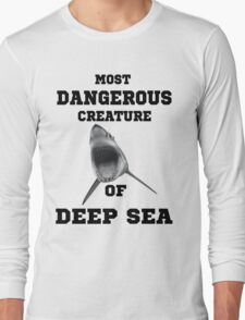 Dangerous Shark Design T-Shirt Long Sleeve T-Shirt