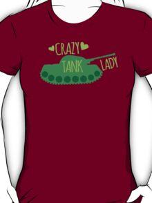 Crazy Tank Lady T-Shirt