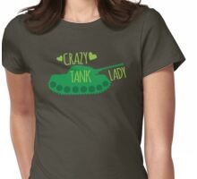 Crazy Tank Lady Womens Fitted T-Shirt