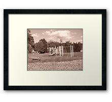 Playground Time Forgot Framed Print
