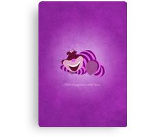 Alice in Wonderland inspired design (Cheshire Cat). Canvas Print