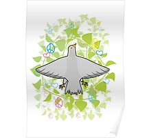 Peace pigeon Poster