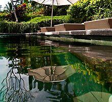 Bali Poolside Reflection by JohnKarmouche