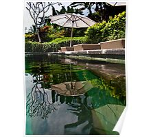 Bali Poolside Reflection Poster