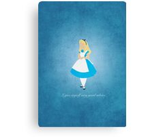 Alice in Wonderland inspired design (Alice). Canvas Print