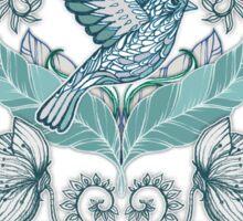 Not Even a Sparrow - hand drawn vintage bird illustration pattern Sticker