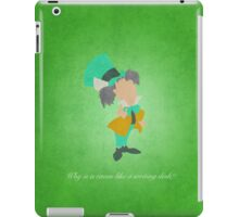Alice in Wonderland inspired design (Mad Hatter). iPad Case/Skin
