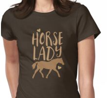 Horse Lady Womens Fitted T-Shirt