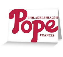 Pope Phillies Logo Mash Up Greeting Card