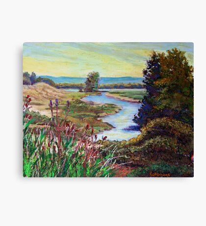 Oak Island Road Canvas Print