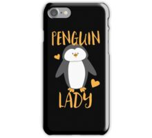 Penguin Lady iPhone Case/Skin