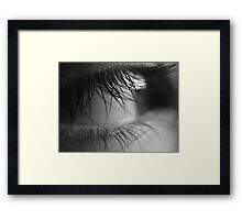 Lanis eye in black N white Framed Print