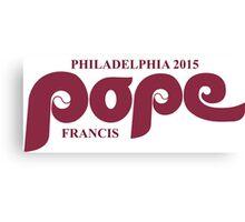 Pope Retro Phillies Mash-Up Canvas Print