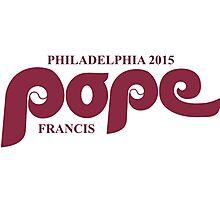 Pope Retro Phillies Mash-Up Photographic Print