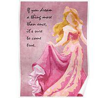Sleeping Beauty inspired design. Poster