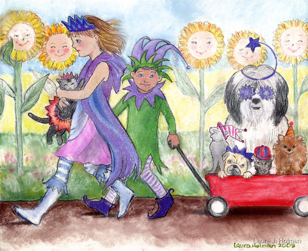Queen Isabella and Jester Todd by Laura J. Holman