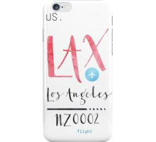 LAX  airport code LOS ANGELES iPhone Case/Skin