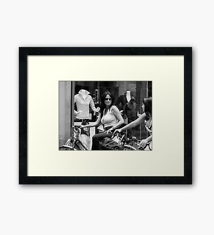 Life in Lucca Framed Print