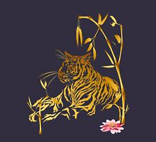 Gold Tiger and Bamboo Unisex T-Shirt