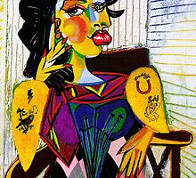 Amy as Portrait of Dora Maar by PrivateVices